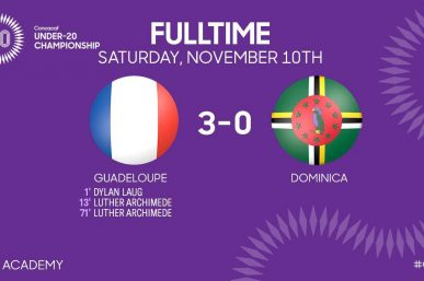 Le résumé du match GUADELOUPE 3 – 0 DOMINICA, U20 Championship