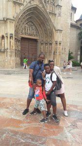 Evan et sa famille