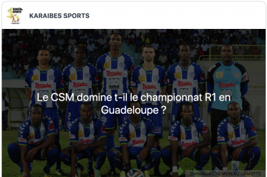 Quel club domine le plus le Championnat R1 en Guadeloupe ?