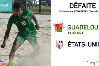 Beach Soccer Quart de final : USA 5  - 1 Guadeloupe | Résumé en image