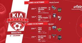 Kia Futsal, résumé de la 2e j et classement du loto sportif