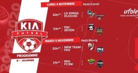 5 journée nouvelle grille disponible pour le Kia Futsal