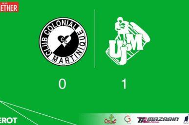 Le résumé du match : Le Club Colonial 0 - 1 UJ MONNEROT par Guynel C